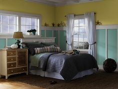 HGTV HOME™ by Sherwin-Williams - Coastal Cool Collection - Watery (SW 6478), Hearts of Palm (SW 6415), Eider White (SW 7014)