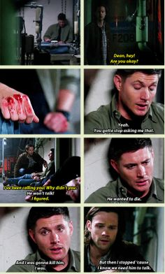 """He wanted to die. I was going to kill him, I was."" [GIFSET] 9x18 Meta Fiction"