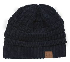 Thick Slouchy Knit Oversized Beanie Cap Hat,One Size,Navy Luxury Divas http://www.amazon.com/dp/B00OJOV7R8/ref=cm_sw_r_pi_dp_Qw0xvb0A6H5DV