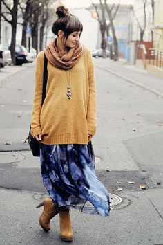 Just wear that beige scarf around the head then BAM! Cute hijabi outfit perfect for winter! #sweater