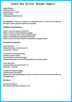 bus driver duties and responsibilities resume