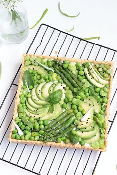 Délices d'Orient: Tarte printanière : pâte à l'huile d'olive et légumes verts