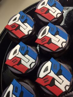Transformers cupcakes! Optimus Prime