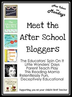 Get to Know the The After School Team of Bloggers bringing you ideas for Summer Fun and Learning out of school.  Come share what you're learning about at home this week at the After School Link Up!  hosted by The Educators' Spin On It