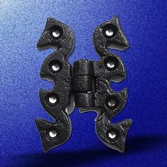 Cabinet Hinges Black Wrought Iron Cabinet Hinge 2 3/4'' High