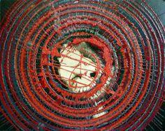 Giuseppe Marchetti (Italia)  Smalti sintetici, pigmento metallico color oro e antiruggine su tela cm.40x50