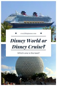 Are you trying to decide between a Disney Cruise or Walt Disney World? You know that you want to experience a Disney vacation but can\'t decide if you should sail with Disney Cruise Line or go to the parks at Disney World? This guide will help you decide which is best for your family.