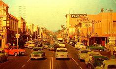 Vintage Post Card: Downtown Fullerton, CA
