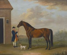 FRANCIS SARTORIUS LONDON 1734 - 1804 HENRY COMPTON'S CHESTNUT HUNTER WITH ITS GROOM OUTSIDE A STABLE signed and dated lower right: F. Sartorius. Pinx. 1775. Oil on canvas. Sotheby's
