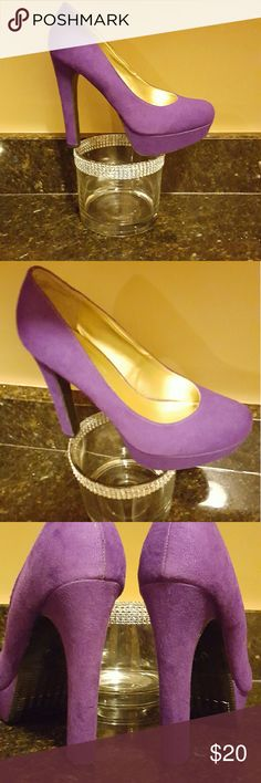 Mossimo faux suede pumps Mossimo purple faux suede pumps size 9 Mossimo Supply Co Shoes Heels