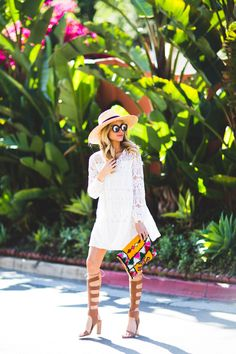 White Lace Vacation DressAngelFoodStyle