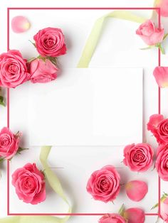New Wallpaper Flores Iphone Valentines Day 51 Ideas Flower Background Wallpaper, Flower Backgrounds, Flower Frame, Flower Art, New Wallpaper, Iphone Wallpaper, Valentinstag Poster, Valentine Background, Romantic Roses