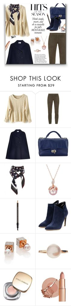 Long Sleeve Sweater by SheIn by ceci-alva on Polyvore featuring Mode, Valentino, Vince, Rupert Sanderson, Charles Jourdan, Vita Fede, Sophie Bille Brahe, Gucci, Dolce&Gabbana and Shiseido