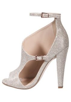 Sandales à talons hauts - gold High Heels, Shoes Heels, Couture Fashion, Glamour, Shoe Bag, Gold, Heeled Sandals, Gowns, Tops
