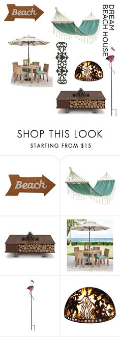 """""""#vacationvibes"""" by uma-js ❤ liked on Polyvore featuring Mud Pie, Decoris, AK47, Home Decorators Collection and Good Directions"""