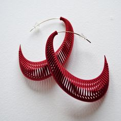 Spinal 3D earrings  by Theresa Burger