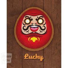 8x10 Lucky Daruma Print