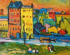 Wassily Kandinsky- Casas en Munich (1908)