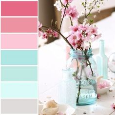 Color palate. Do not like flowers. Do like mason jar.