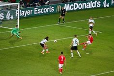 Hal Robson-Kanu wrong-foots three Belgium players and side-foots the ball home.