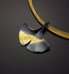Custom order: Ginkgo leaf silver pendant with fine gold by KAZNESQ on Etsy https://www.etsy.com/listing/111375700/custom-order-ginkgo-leaf-silver-pendant