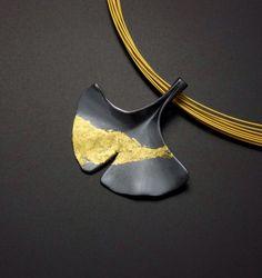 Custom order: Ginkgo leaf silver pendant with fine gold by KAZNESQ on Etsy https://www.etsy.com/listing/111375700/custom-order-ginkgo-leaf-silver-pendant