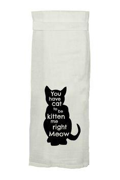 Cat Flour Sack Tea Towel