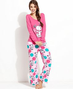 Snoopy Top and Plush Pajama Pants