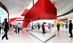 Red area Shopping Center, Rainbow Colors, Sweden, Opera House, Louvre, Colours, Architecture, Building, Projects