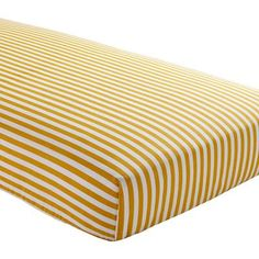 Baby Sheets: Yellow Striped Fitted Crib Sheet in Crib Bedding and Baby Bedding
