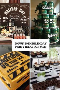 Fun 50th Birthday Party Ideas For Men Cover 60th