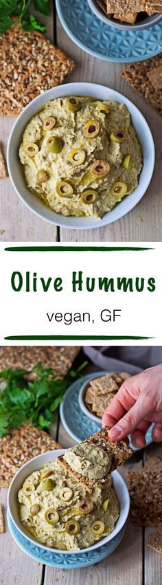 When short of time and not interested in junk food outside, I love to have a quick #vegan snack at home - such as this super tasty #olive #hummus into which I can just dip fresh veggies or seedy crackers and be happy. :)