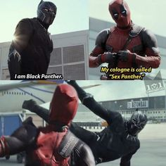 This needs to happen at some point. Deadpool and Black Panther