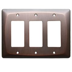 "Allen And Roth Wall Plates Custom Allen  Roth 5"" X 518"" Dark Oilrubbed Bronze Decorator Rocker Decorating Design"