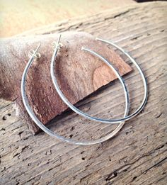 Large Silver Hoop Earrings; love me some over-sized, 80s-esque, Jodi Watley hoops