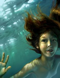 David Sourwine- Natural Mermaid- love everything about this... check out the water and detail in the shine of the hair..
