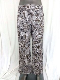 Casual pants size 4P floral Talbots #Talbots #CasualPants