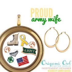 Origami Owl Living Locket for proud family members of our deployed service men and women.