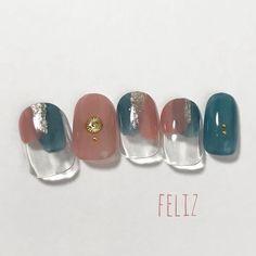 ニュアンスネイル シンプル クリア ジェル 大人カジュアル 大人可愛い ネイルチップ 春 夏 ネイルチップ feliz nail ꘎ 通販|Creema(クリーマ) ハンドメイド・手作り・クラフト作品の販売サイト Cute Nails, Pretty Nails, Self Nail, London Nails, Nail Time, Gel Nail Designs, Nail Inspo, Nail Colors, Finger
