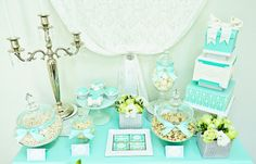 Tiffany Inspired Party | Dessert Table