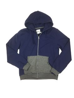 Punk Royal Navy Zip Up Hoodie Large. Drawstring hoodie. Full zip down the front. Two front pockets. Cotton/Polyester.