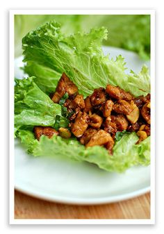 Chicken Lettuce Wraps, these things are a lot better than they look, trust me! they are amazing! especially the ones from P.F. Changs!