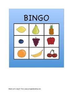Fruit and Vegetable Bingo for Small Groups