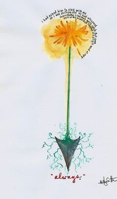 Hunger Games dandelion... (I love Peeta!)