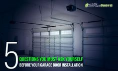 Whether you are installing your 1st garage door or having an existing door replaced, garage door installation needs a great deal of thought & consideration. It is wise to comprehend the whole process so you are best prepared for what is involved. Garage Door Company, Garage Doors, Garage Door Installation, The Doors, Focal Points, Flat Screen, Hardware, Consideration, House