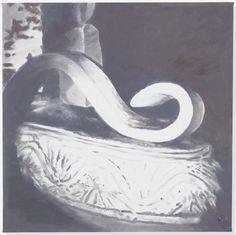 Luc Tuymans (Belgian, b. 1958), Model, 2015. Oil on canvas, 121 x 121.3 cm.