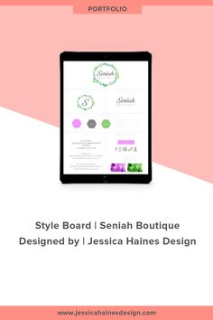 Seniah Boutique was a fun branding project that I completed for a kids boutique clothing store. Kids Boutique, Boutique Design, Boutique Clothing, Graphic Design Projects, Fashion Branding, Custom Logos, Portfolio Design, How To Find Out, Branding Design