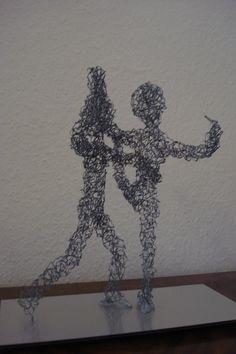 Patinage - Eiskunstlauf, fil de fer - Draht, env. 30 cm H, 2012
