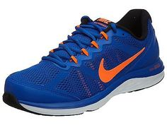 nike blue orange running shoes