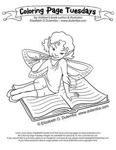 http://dulemba.com/Blogstuff/ColoringPageTuesdays/ReadingFairy4-big.jpg?utm_medium=email&utm_campaign=Elizabeth+O.+Dulemba%27s+e%27s+news+an...
